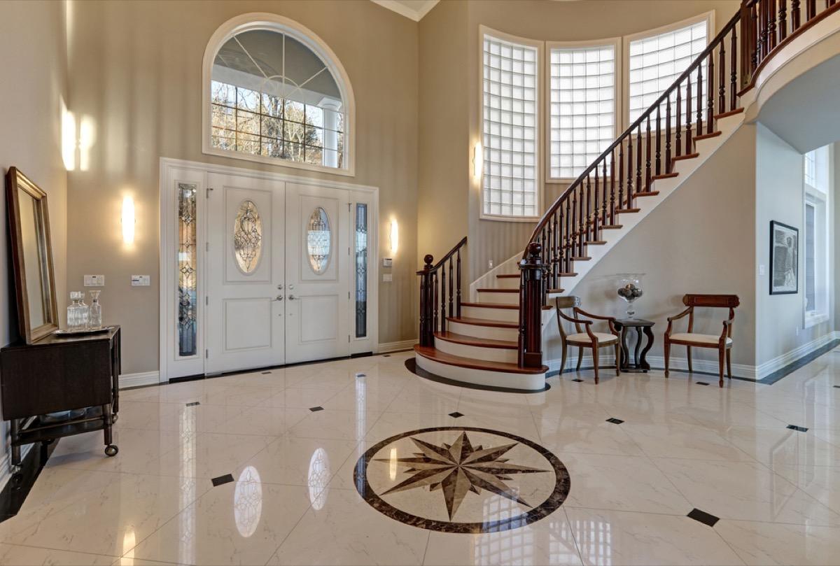 marble foyer, interior design mistakes