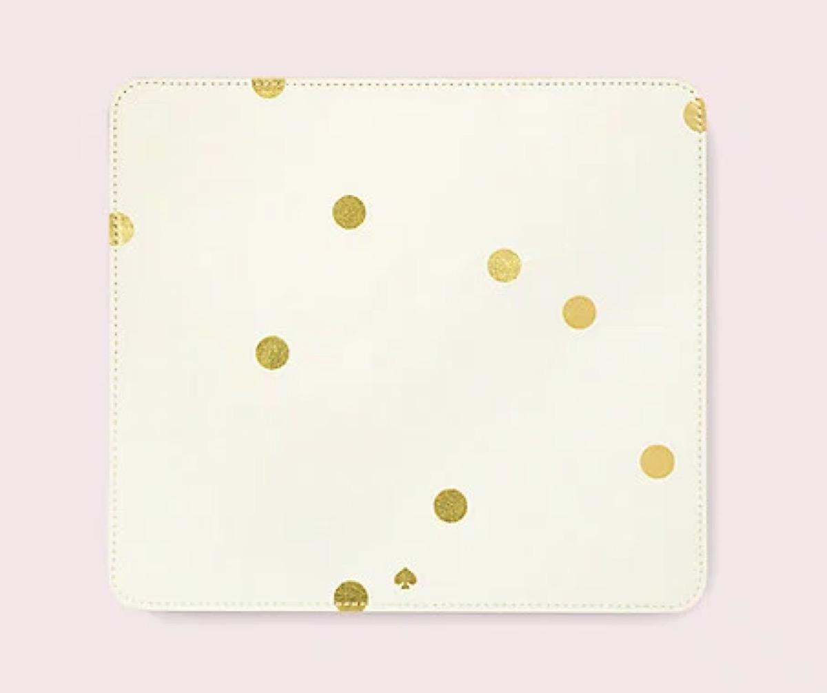kate spade gold dot mouse pad
