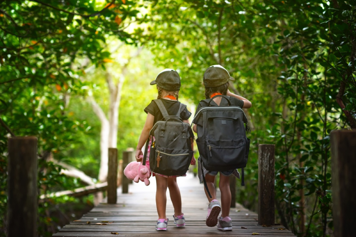 two little girls walking in woods, bad parenting advice