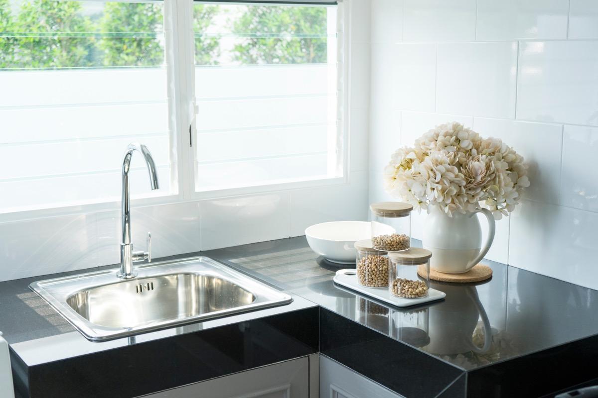 A Kitchen Sink In the Corner Transform Small Kitchen