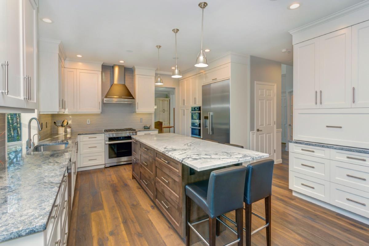 wide plank flooring, vintage home upgrades
