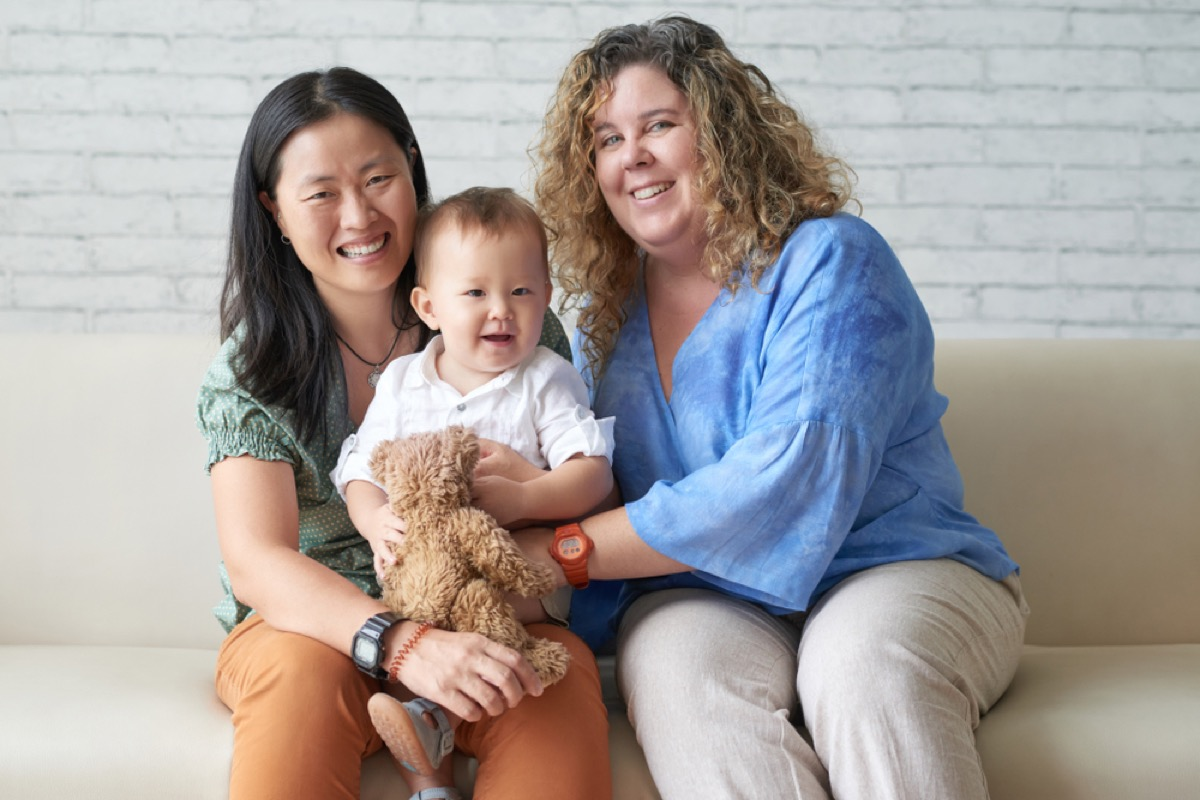 lesbian couple with baby son, how parenting has changed