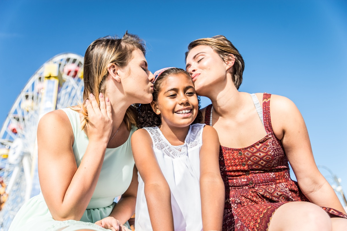 lesbian mothers with adopted child, prepare children for divorce