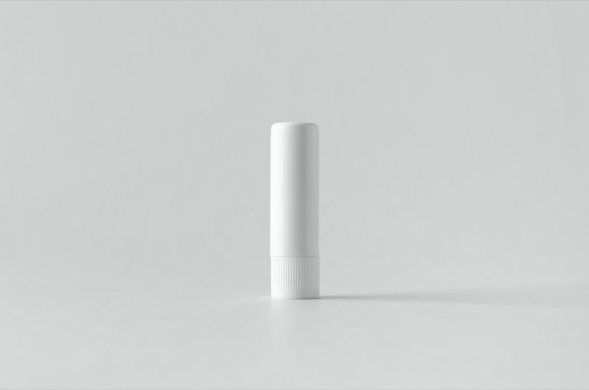 white lip balm tube