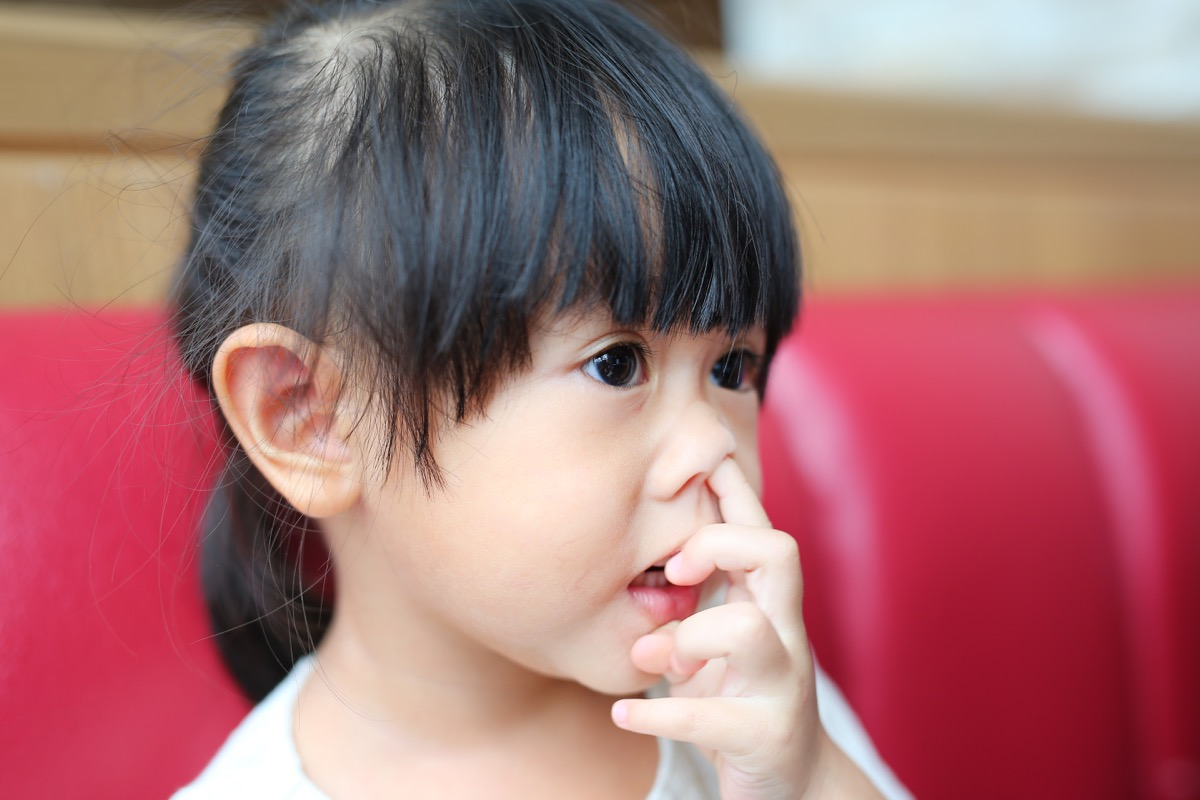 Little Girl Picking Her Nose Childhood Habits That Affect Adult Health