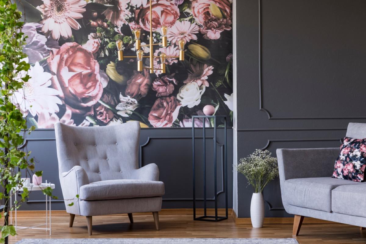 vintage wallpaper, vintage home upgrades