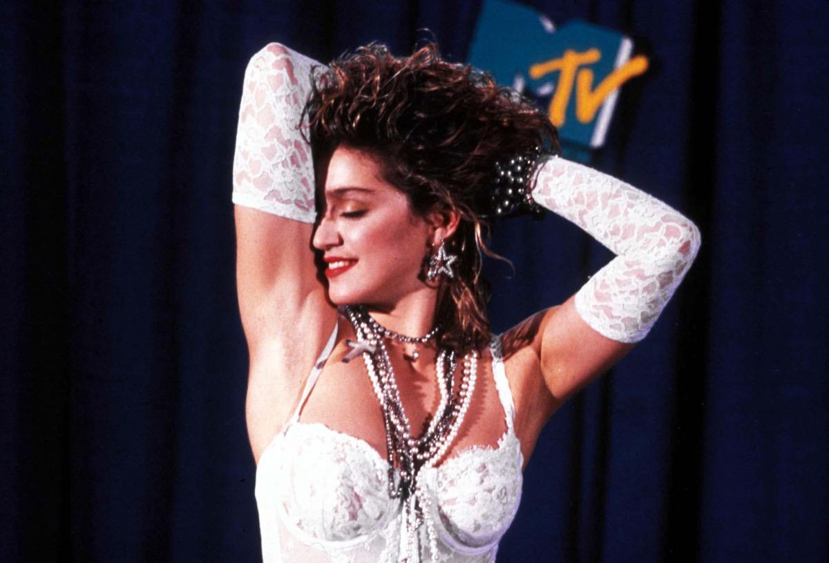 madonna in a wedding dress mtv video music awards