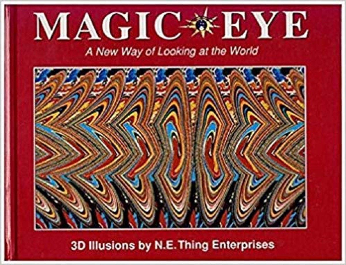 magic eye book, things only 90s kids remember