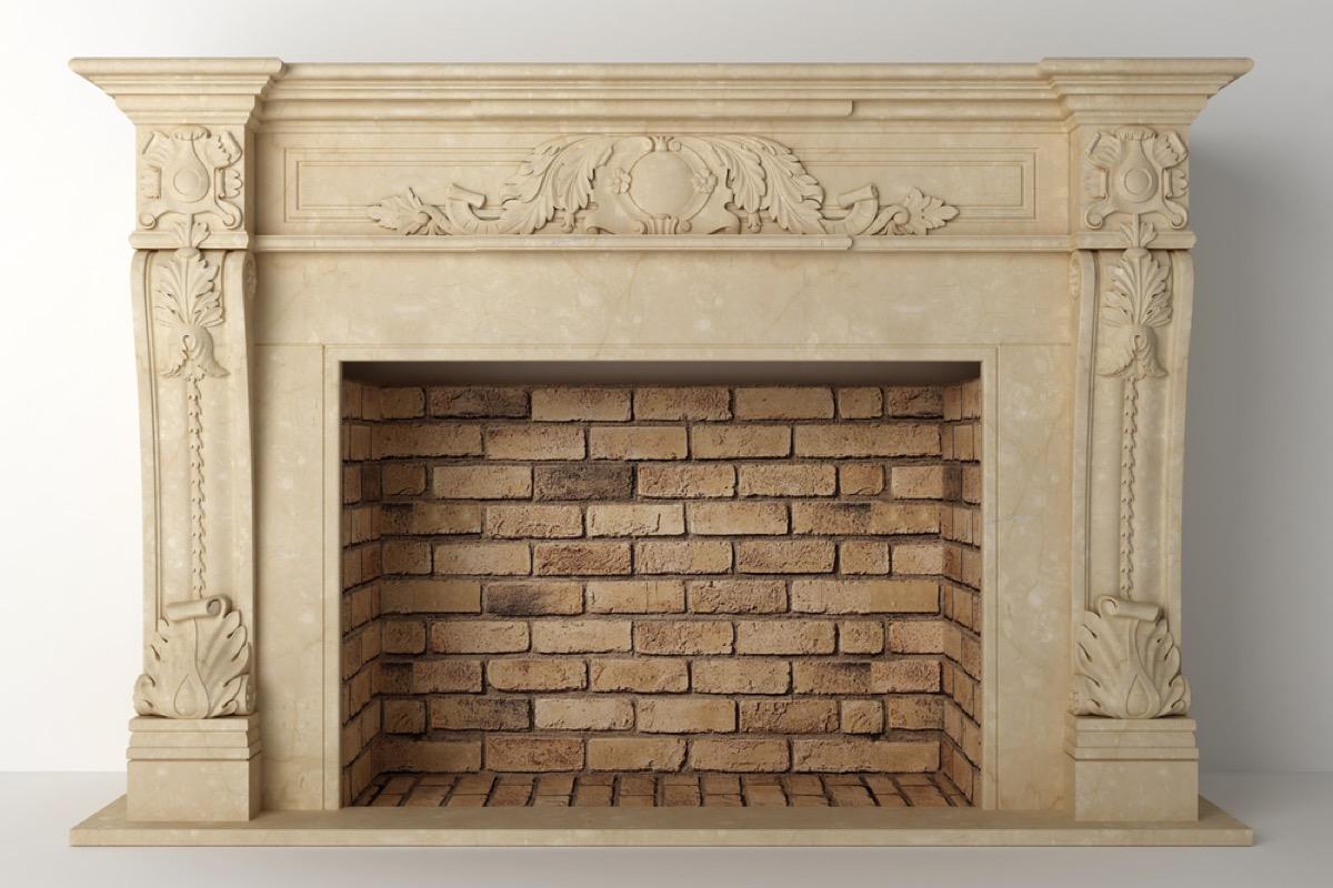 antique fireplace, vintage home upgrades