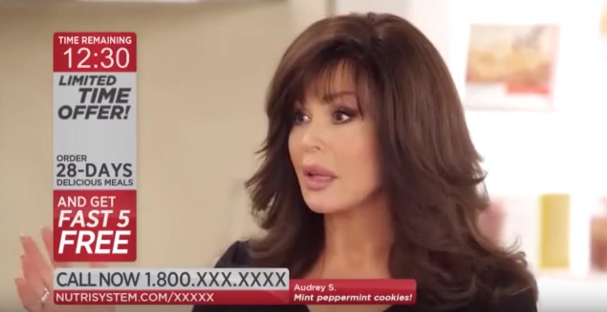marie osmond nutrisystem commercial, celebrity infomercial