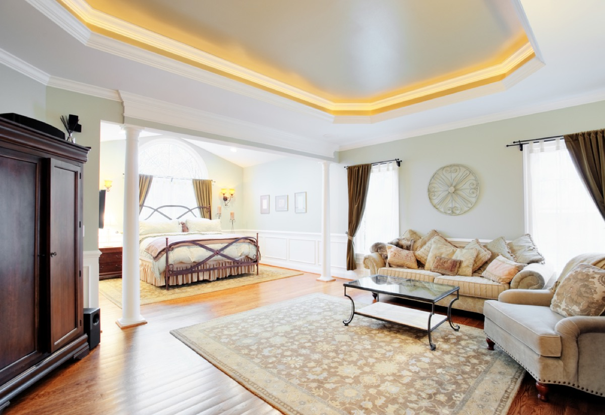 fancy bedroom master suite, home remodeling cost