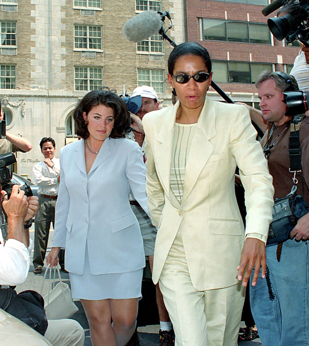 monica lewinsky walking through crowd, things only 90s kids remember