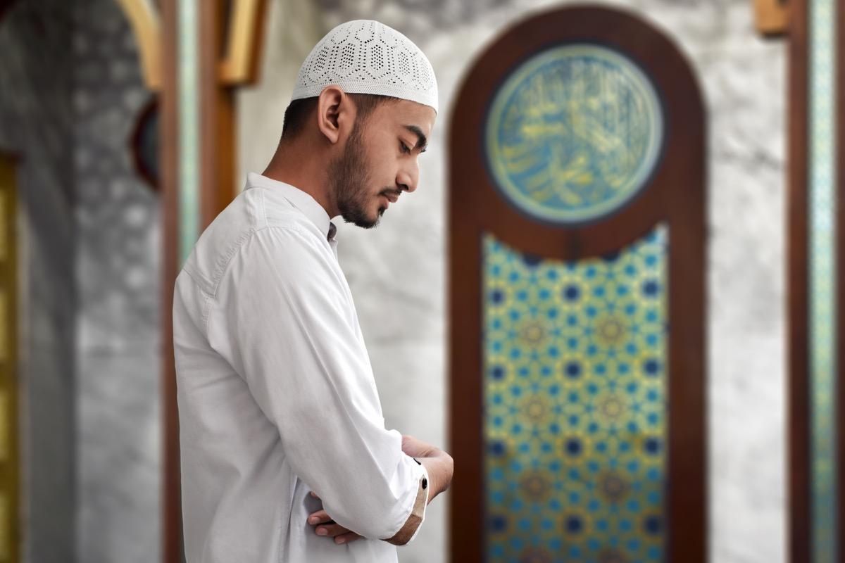 Muslim Man Praying For Ramadan