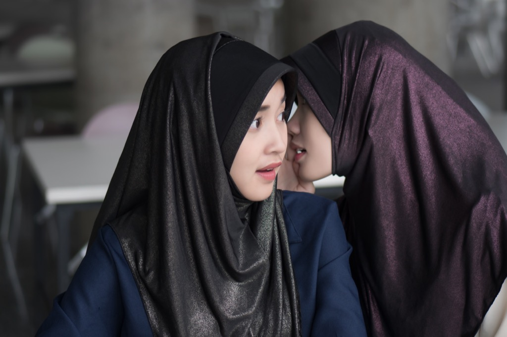 Two Muslim Women Gossiping How Ramadan is Celebrated