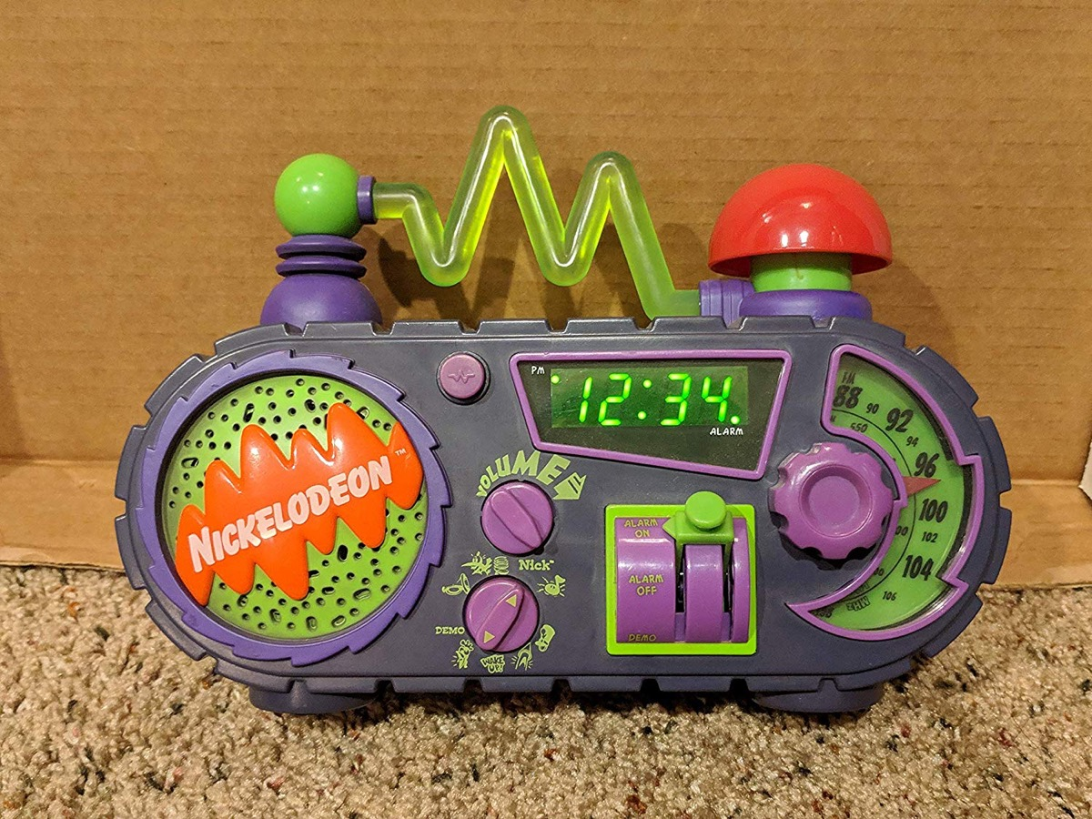 nickelodeon alarm clock, things only 90s kids remember