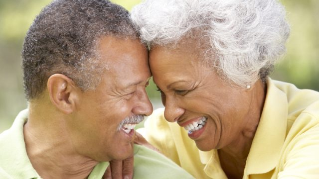 older couple flirting outside, things that annoy grandparents