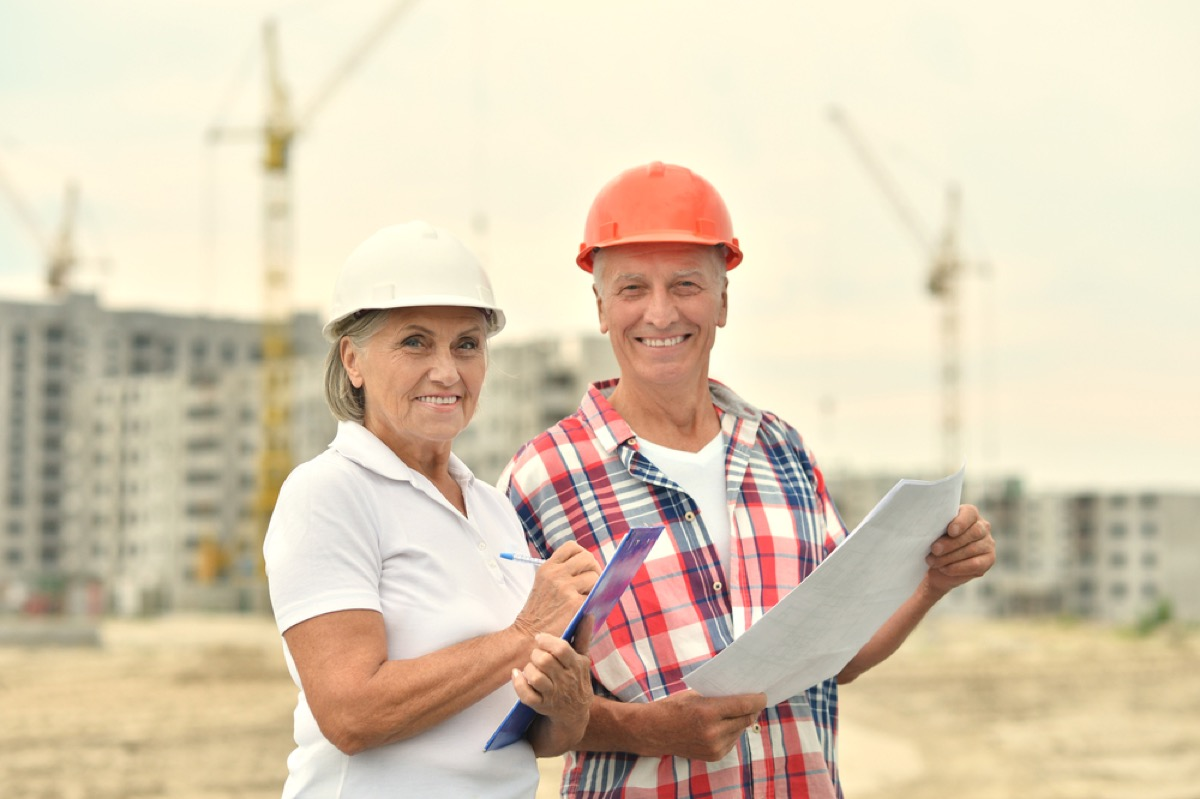 older couple building house, better wife after 40