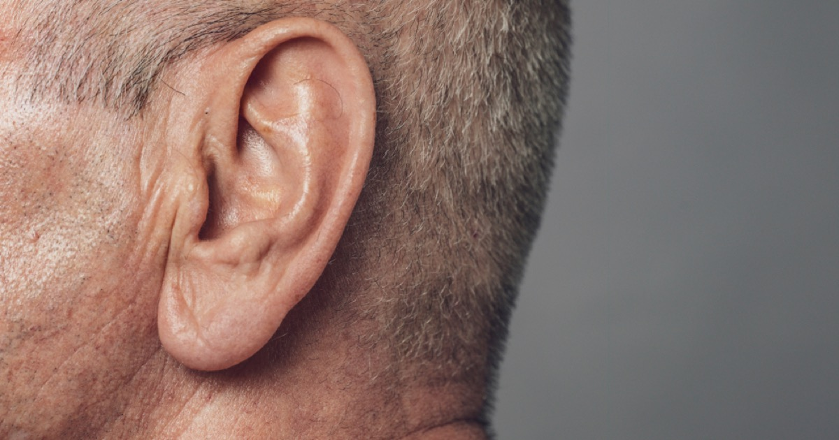 older man with hairy ear, look better after 40