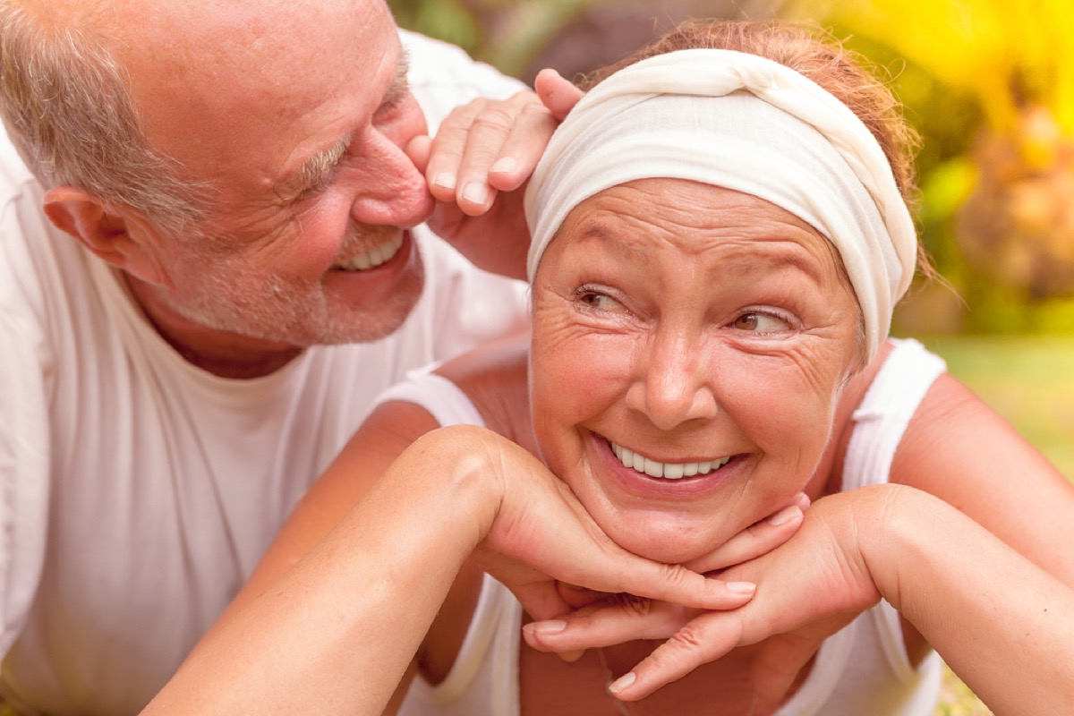 man telling wife secret, better wife after 40
