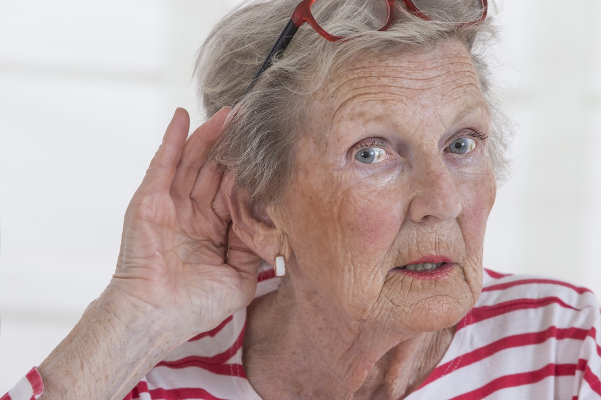 Older Woman Suffering From Hearing Loss Silent Health Symptoms