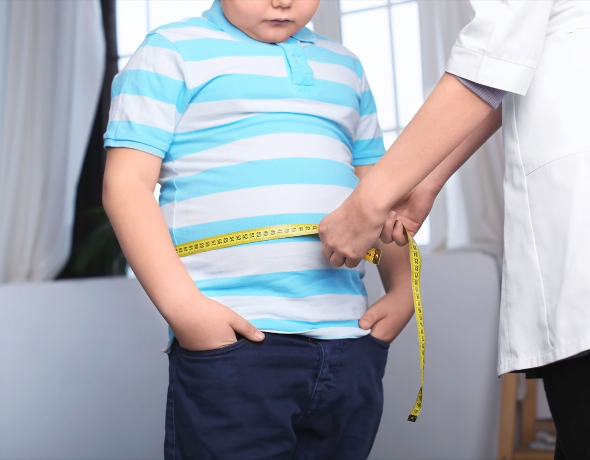 Kid Being Measured For Obesity Childhood Habits that Affect Health