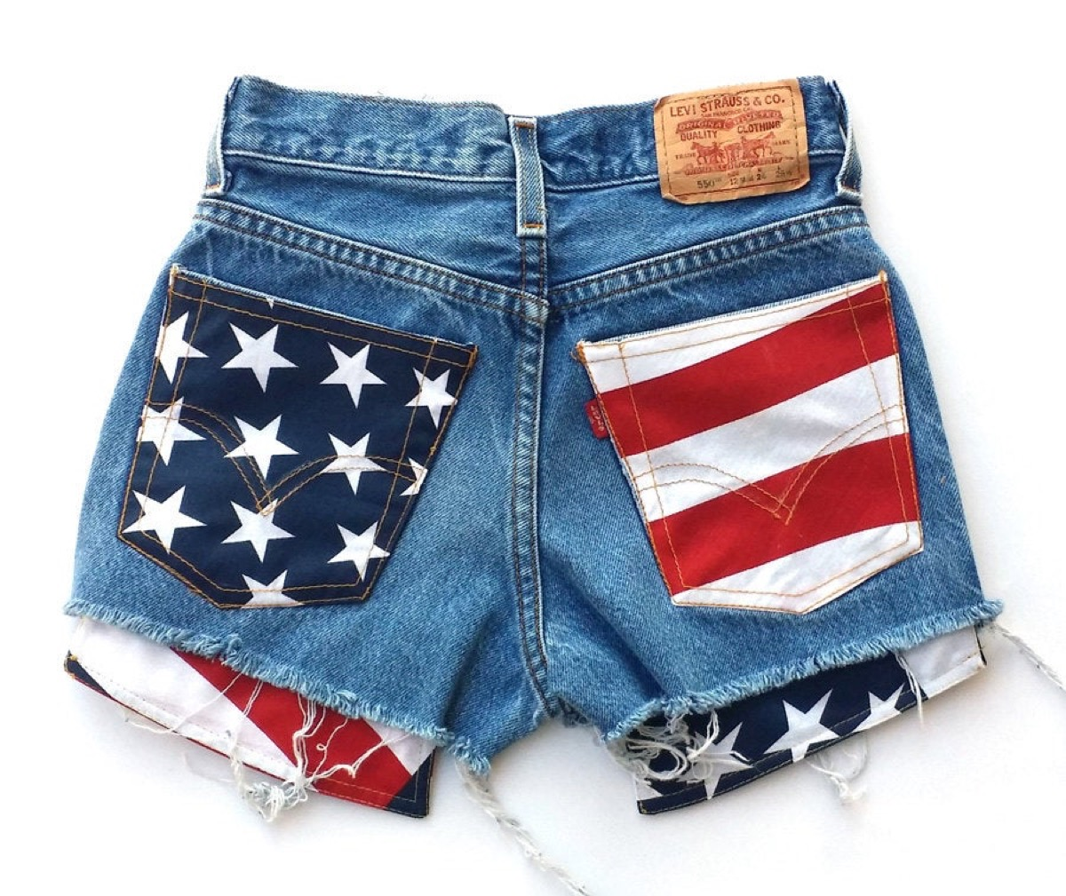 Levis Flag Shorts Fourth of July Accessories