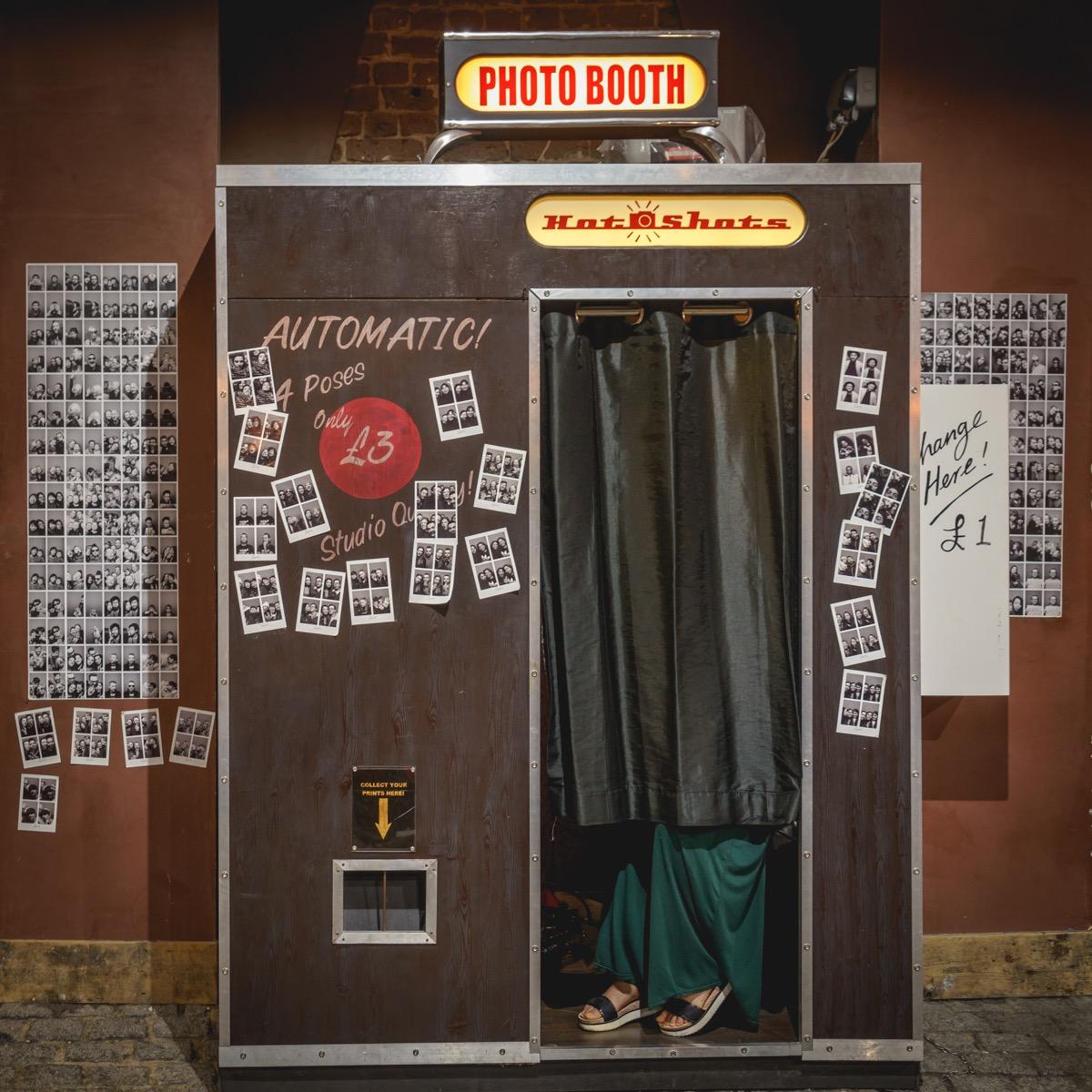 old photo booth, 1970s nostalgia