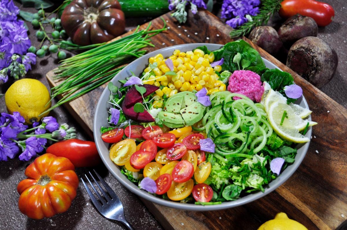Plant based meal of salad