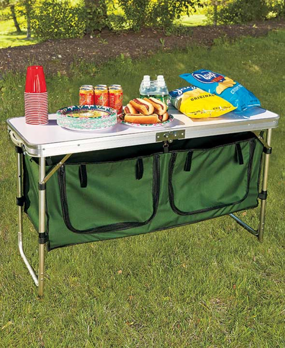 portable camping table from the lakeside collection