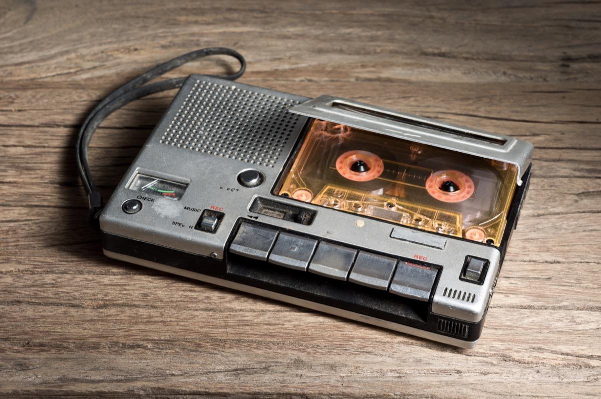 portable cassette recorder, player, 1970s
