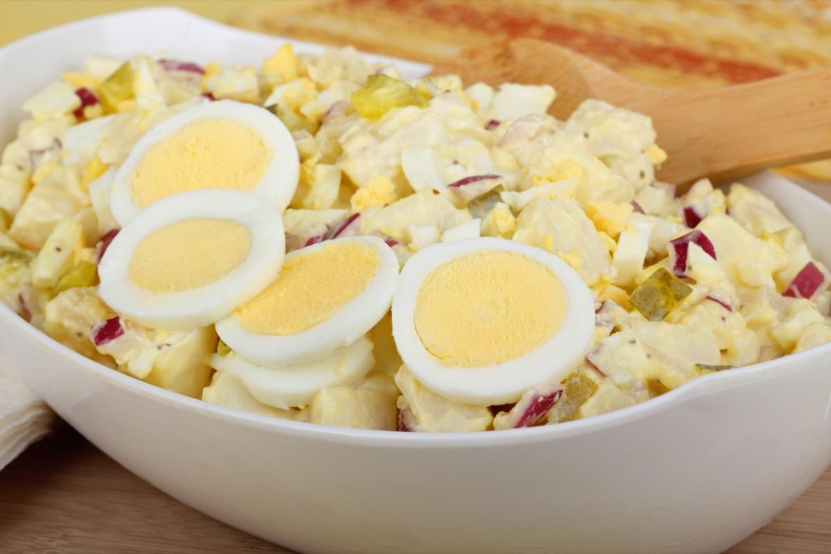 A Communal Bowl of Potato Salad BBQ Etiquette Mistakes