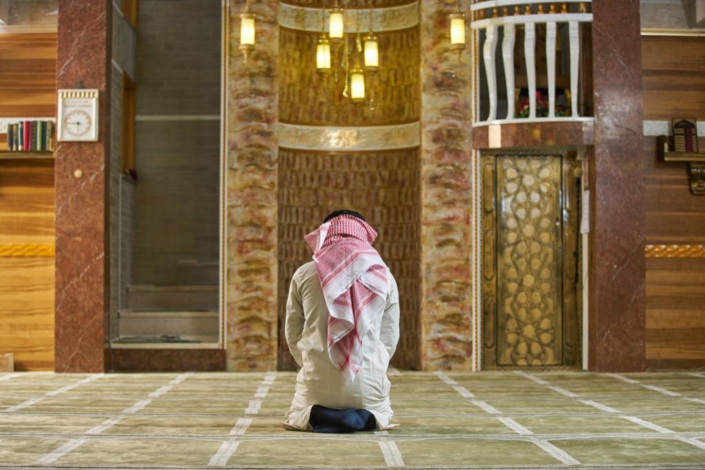 Man Praying Inside a Mosque Ways Ramadan is celebrated