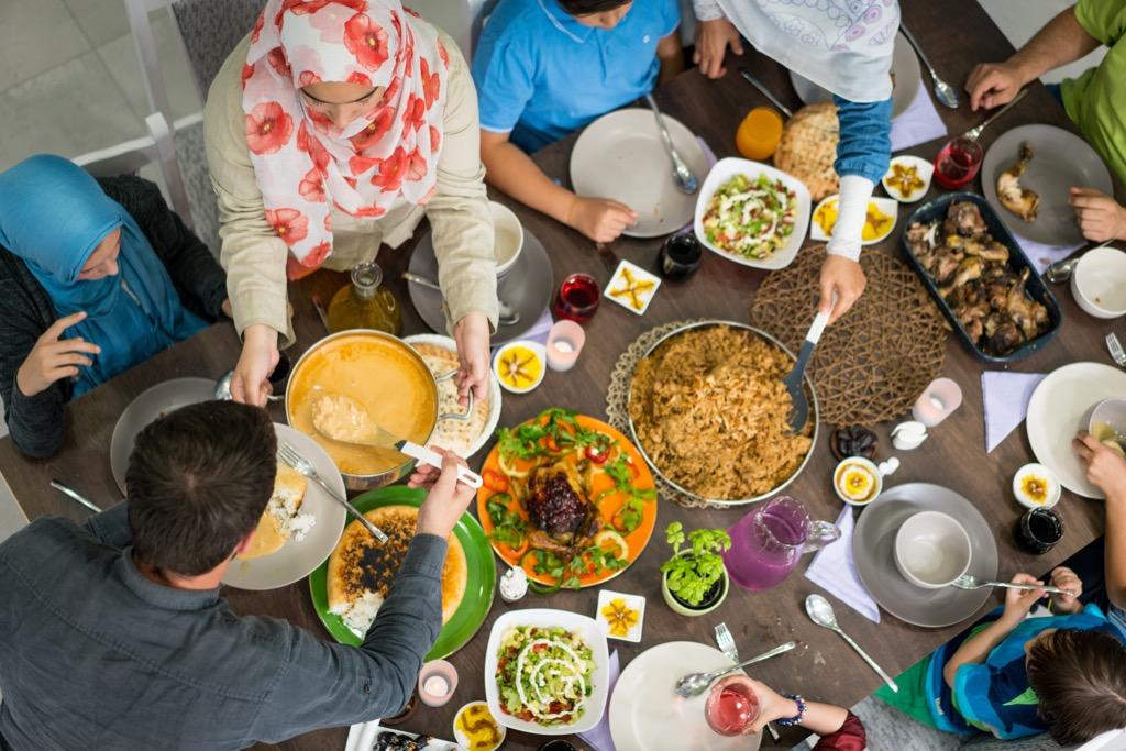 Friends Enjoying a Ramadan Dinner Ways Ramadan is Celebrated