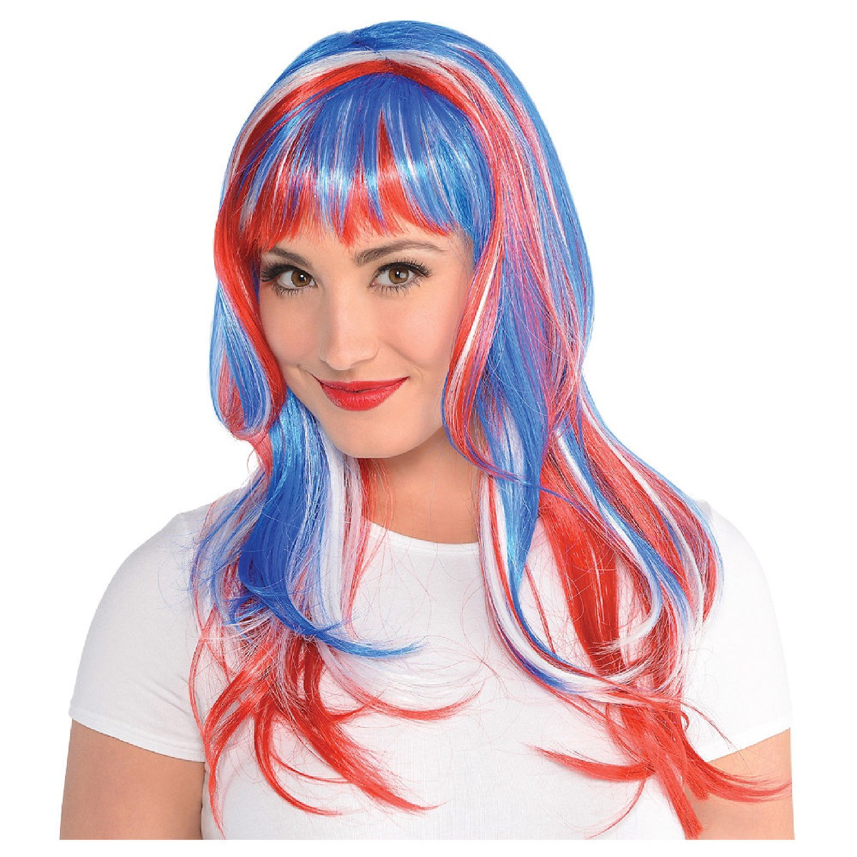 Red, White, and Blue Wig Fourth of July Accessories