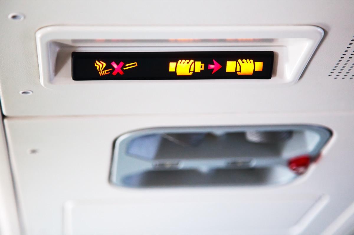 seatbelt sign on airplane things that horrify flight attendants