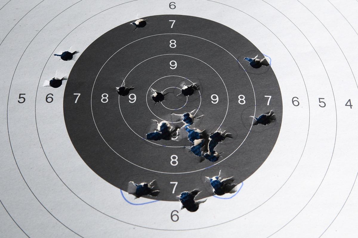 shooting range target, safety tips