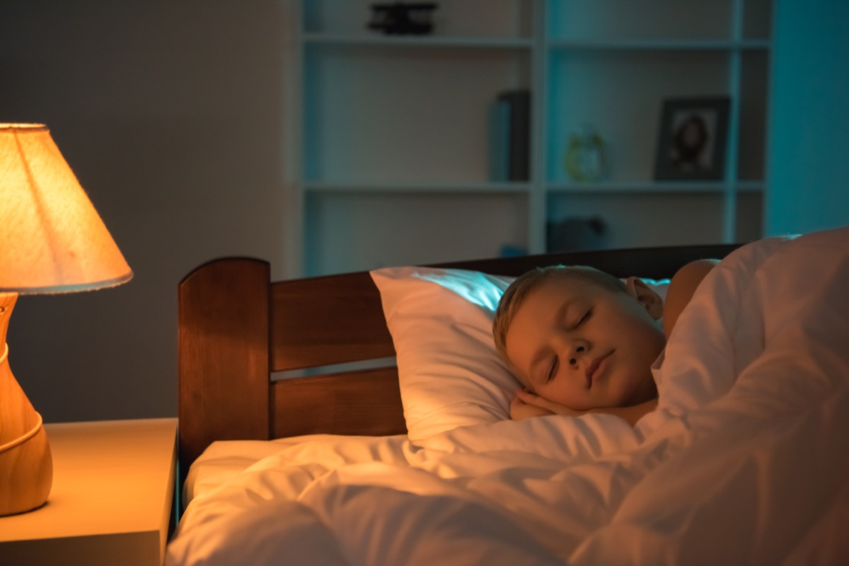 Little Boy Sleeping with the Lights On Childhood Habits that Affect Adult Health