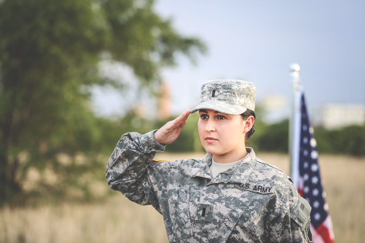 Female Soldier Saluting Military Slang Terms