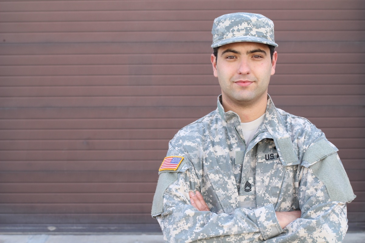 Soldier Smiling with his Arms crossed Military Slang Terms