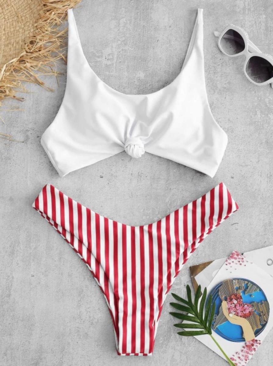 ZAFUL Striped Bikini Fourth of July Accessories