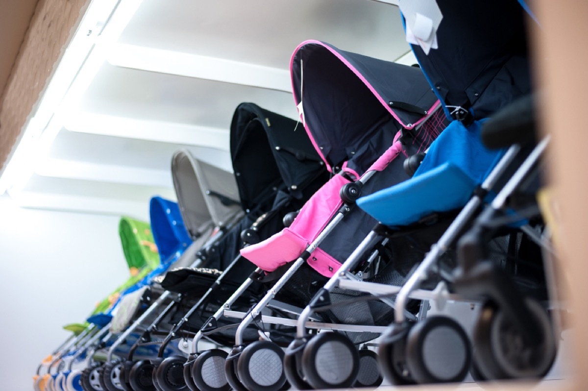 strollers in store, ways parenting has changed.