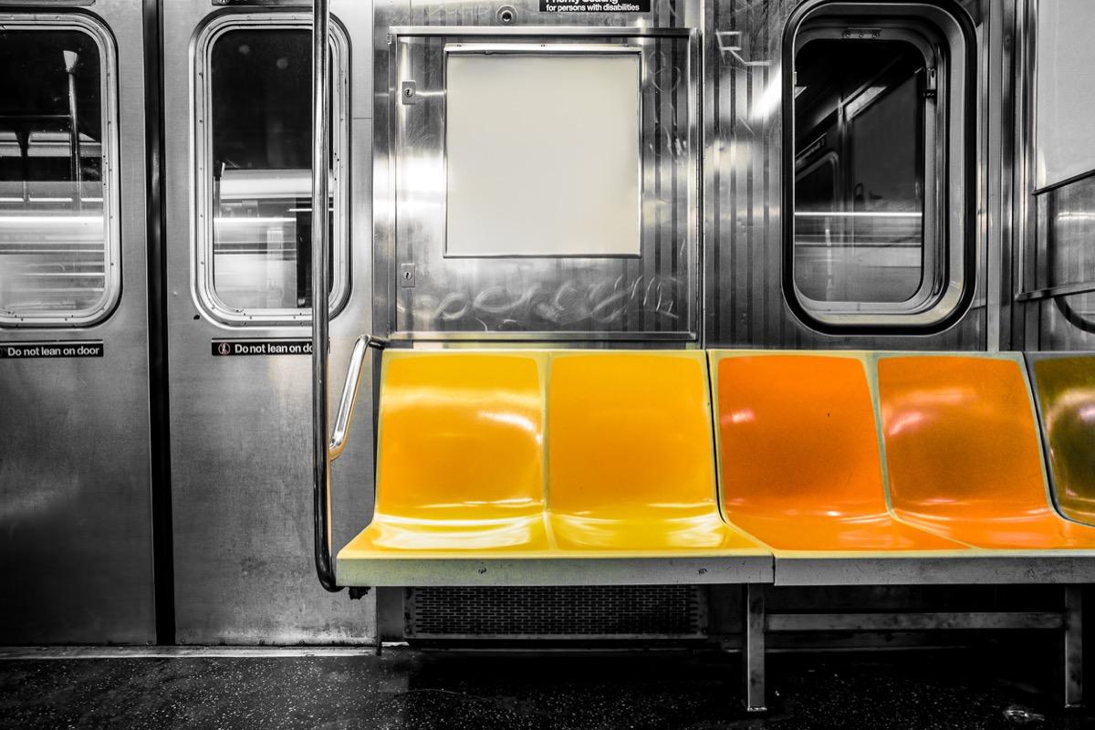 subway bench