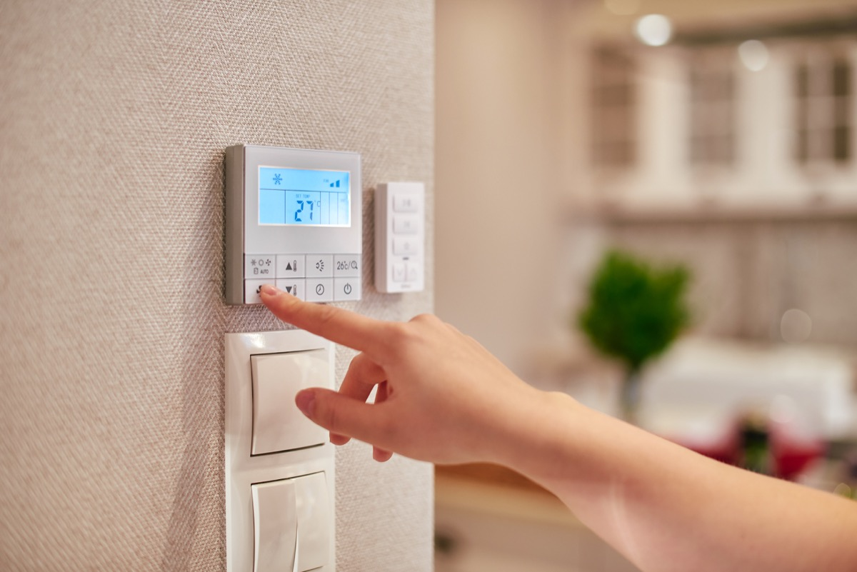 thermostat in cooler part of the home, relationship white lies