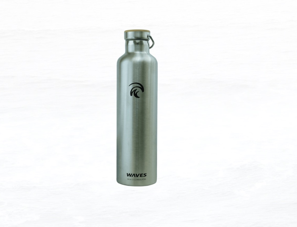 tall silver water bottle, summer buys under $100
