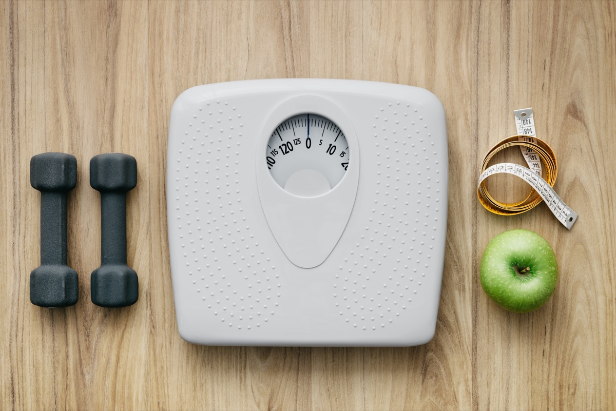 weight loss scale, over 50 fitness