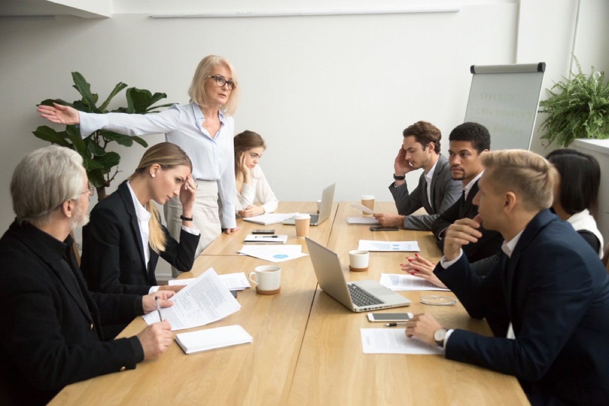 workplace meeting, over 50 regrets