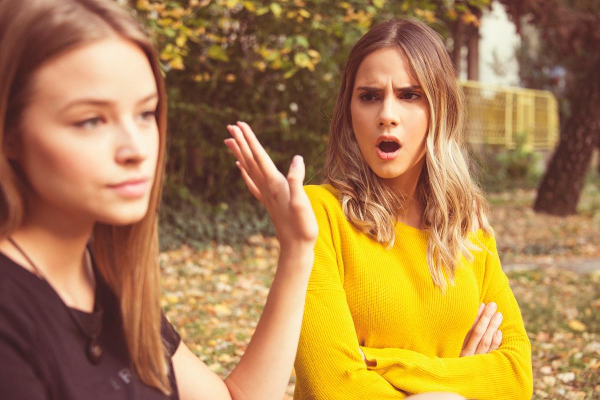 Two Women Arguing Clap Back Slang Terms