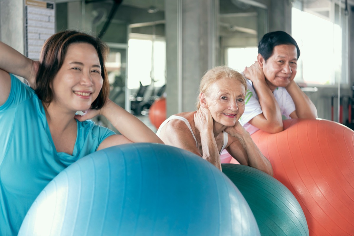 yoga ball workout how to make friends as an adult