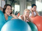 yoga ball workout, over 50 fitness