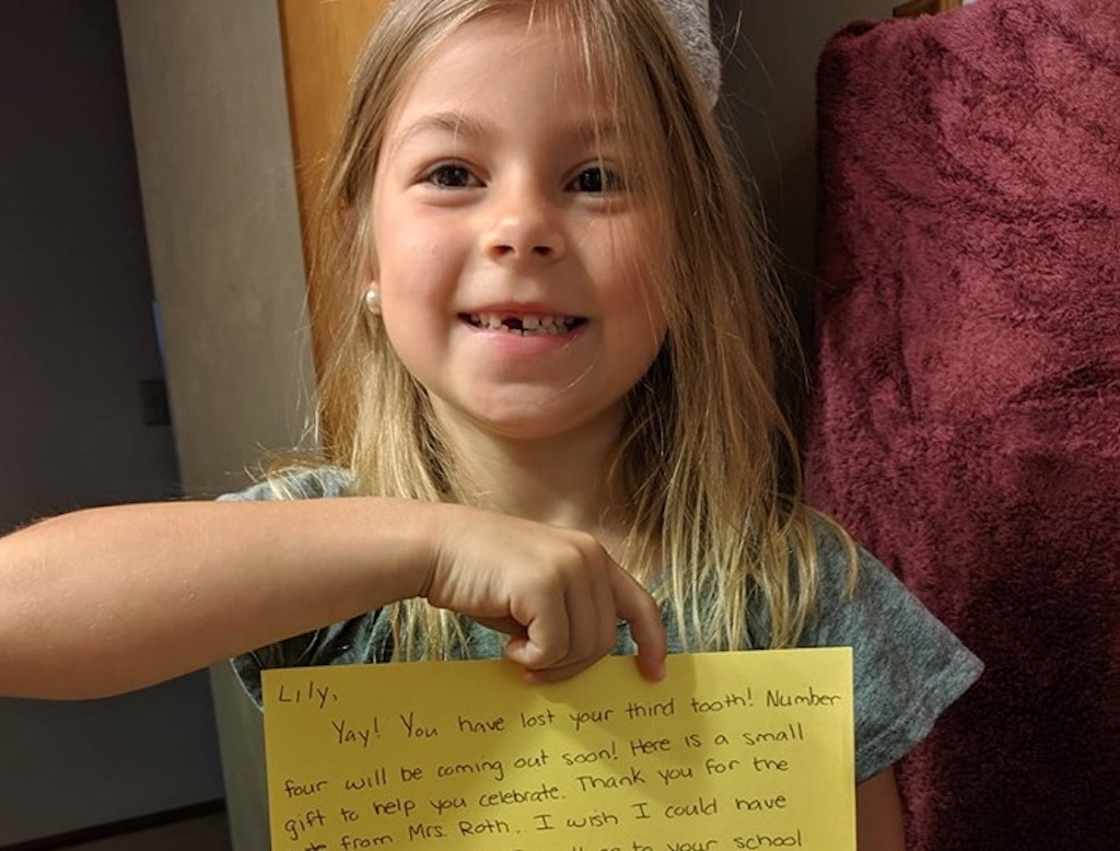 teacher writes letter to tooth fairy, goes viral